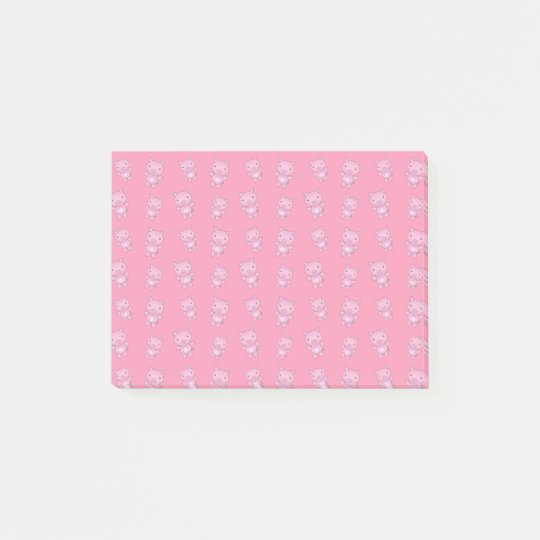 Cute pink pig pattern post-it notes
