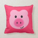 Cute Pink Pig Pillow