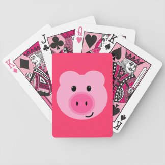 Cute Pink Pig Playing Cards