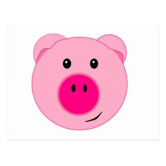 Cute Pink Pig Postcard