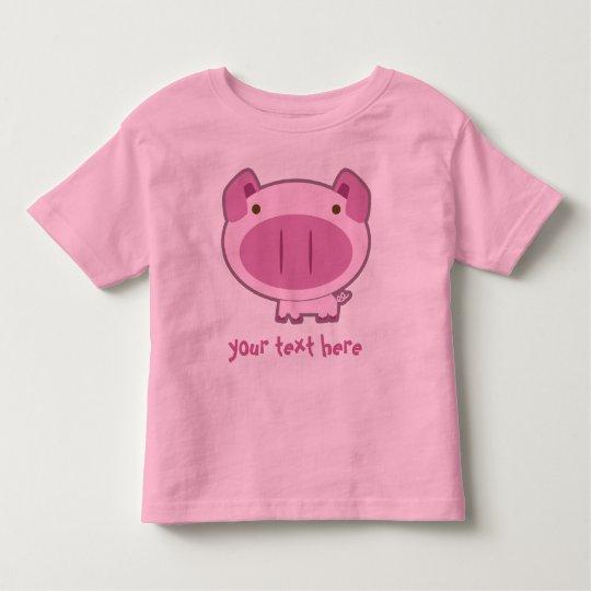 CUTE PINK PIGGY for KIDS Toddler T-Shirt