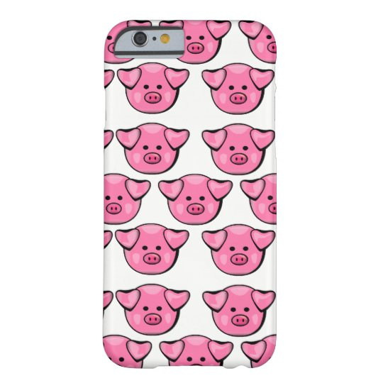 Cute Pink Pigs Barely There iPhone 6 Case