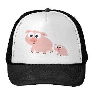Cute Pink Pigs Cap