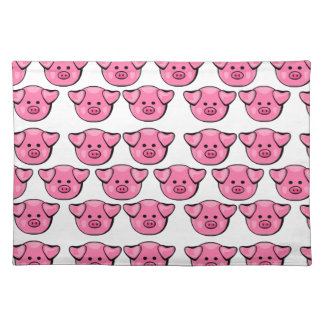 Cute Pink Pigs Placemat
