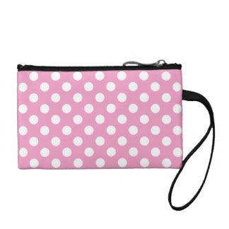 Cute Pink Polka Dots Pattern Coin Wallet