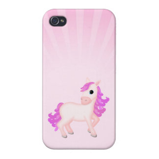 Cute Pink Pony Horse Cartoon Case For iPhone 4