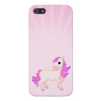 Cute Pink Pony Horse Cartoon iPhone 5/5S Covers