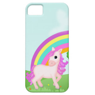 Cute Pink Pony Horse in Colorful Fields iPhone 5 Cover