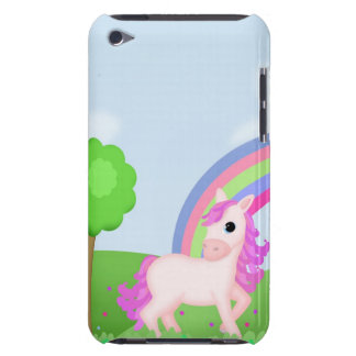 Cute Pink Pony Horse in Colorful Fields iPod Case-Mate Cases