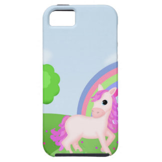 Cute Pink Pony Horse in Colorful Fields iPhone 5 Case