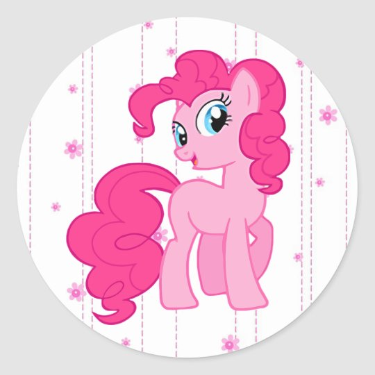 Cute Pink Pony Stickers for Little Girls