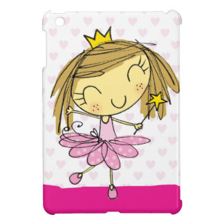 Cute Pink Princess Ballet girl iPad Mini Covers