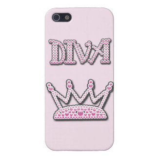 Cute Pink Printed Pearls Diva Princess Crown Covers For iPhone 5