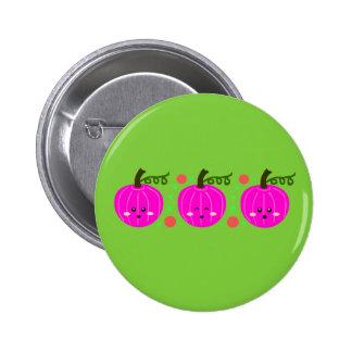 Cute Pink Pumpkins 6 Cm Round Badge
