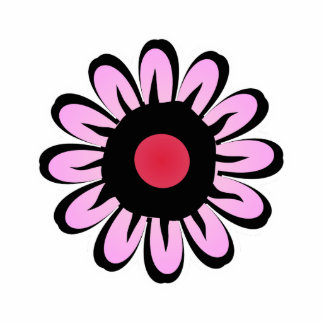 Cute Pink Purple Flower Magnet Acrylic Cut Outs
