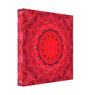 Cute Pink/Red Mandala Art Canvas Print