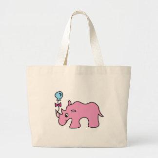 Cute Pink Rhino - Customise friendly Bag