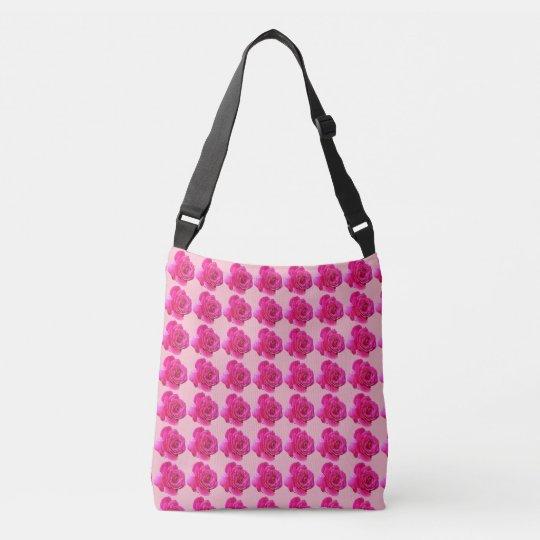 cute pink roses All-Over-Print Cross Body Bag