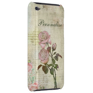Cute Pink Roses on Vintage Background iPod Touch Cover
