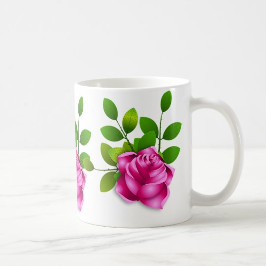 Cute pink roses, White 325 ml Classic White
