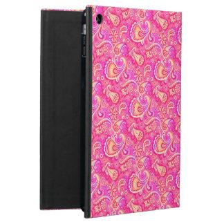 Cute pink seamless paisley look iPad air cover