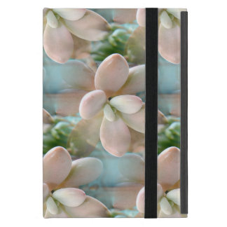Cute Pink Sedum Succulent Jelly Bean Leaves Cases For iPad Mini
