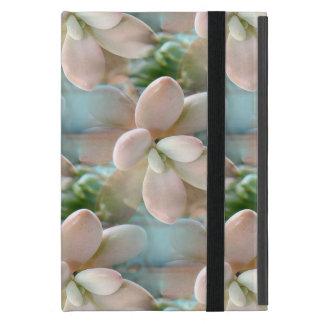 Cute Pink Sedum Succulent Jelly Bean Leaves Cases For iPad Mini