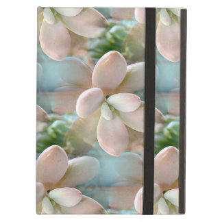 Cute Pink Sedum Succulent Jelly Bean Leaves Cover For iPad Air