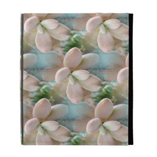 Cute Pink Sedum Succulent Jelly Bean Leaves iPad Folio Covers