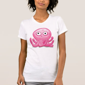 cute pink silly octopus T-Shirt