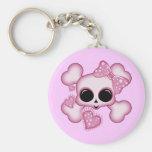 Cute Pink Skull Keychains
