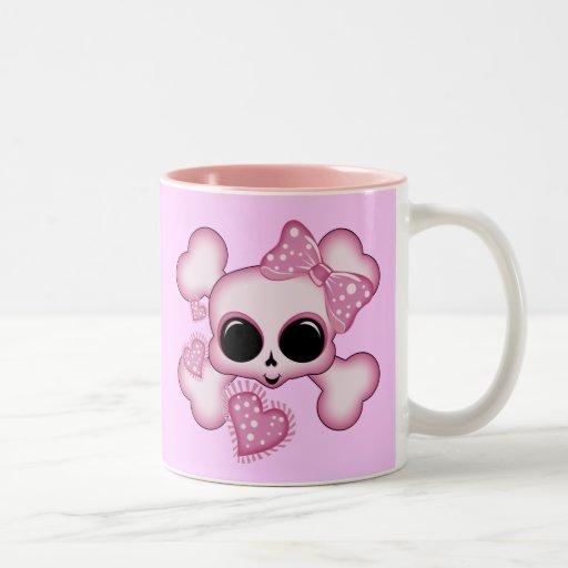 Cute Pink Skull Coffee Mugs