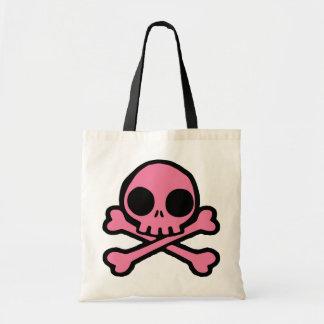 Cute Pink Skull Tote Bag