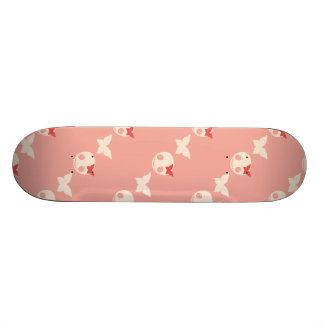 Cute Pink Skulls 18.1 Cm Old School Skateboard Deck
