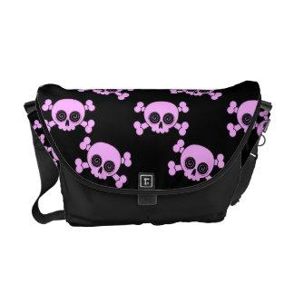 Cute Pink Skulls Messenger Bag