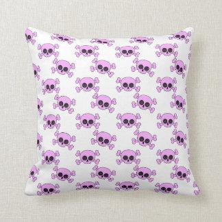 Cute Pink Skulls Throw Cushions