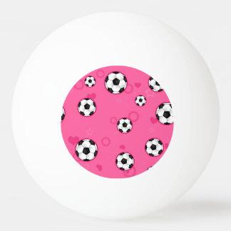 Cute Pink Soccer Pattern Ping Pong Ball
