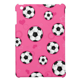 Cute Pink Soccer Star Print iPad Mini Case
