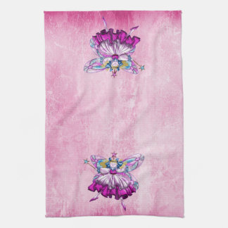 Cute Pink Sugar Plum Fairies Kitchen Towel