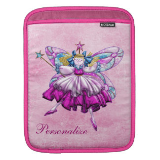 Cute Pink Sugar Plum Fairy iPad Sleeve