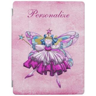 Cute Pink Sugar Plum Fairy Printed Jewel Effect iPad Cover