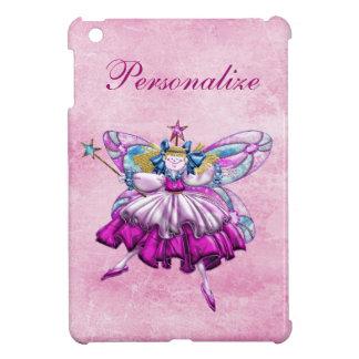Cute Pink Sugar Plum Fairy Printed Jewel Effect iPad Mini Cases
