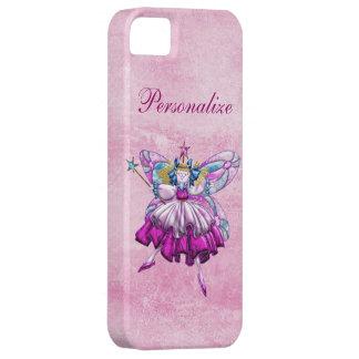 Cute Pink Sugar Plum Fairy Printed Jewel Effect iPhone 5 Cases
