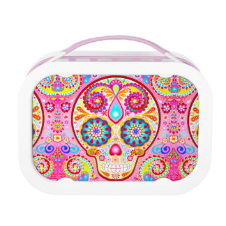 Cute Pink Sugar Skull Lunchbox - Day of the Dead