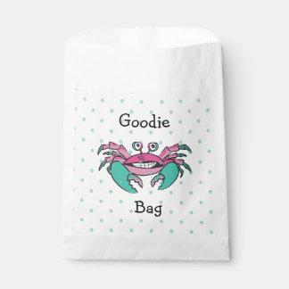 Cute Pink & Teal Crab Goodie Bag