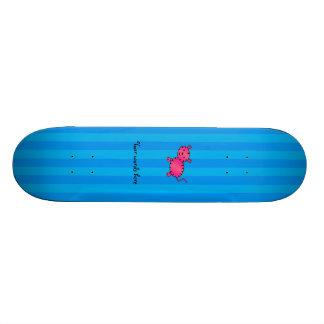 Cute pink tiger blue stripes 21.3 cm mini skateboard deck