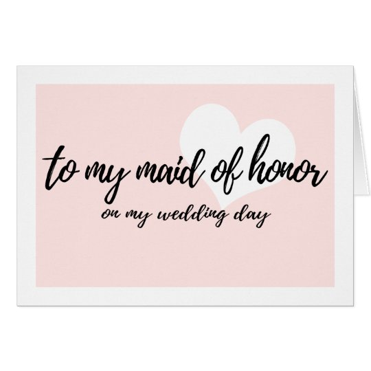 "Cute Pink ""to my maid of honor on"