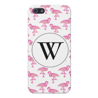 Cute pink tropical flamingo iPhone 5/5S cover