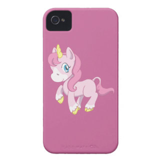 Cute Pink Unicorn iPhone 4 Case-Mate Cases