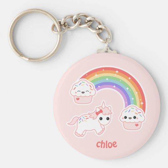 Cute Pink Unicorn Key Ring